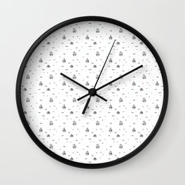 boats subtle pattern Wall Clock