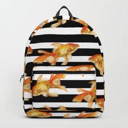 The Golden One II - b&w stripes Backpack