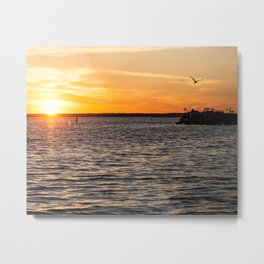 The Peace of a Sunset Metal Print