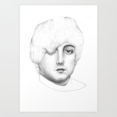 Paul, Your hair is long but not long enough like your eyelashes Art Print