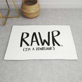 Rawr. I'm a Dinosaur Rug