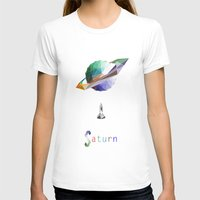 saturn T-shirts featuring Saturn by Tony Vazquez