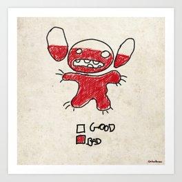 Stitch good&bad meter.... Art Print