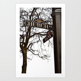 Church Street Sign  Art Print