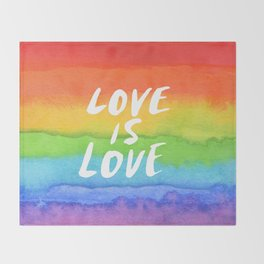 LOVE IS LOVE Throw Blanket