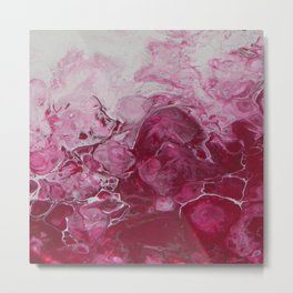 Magenta Love, abstract acrylic fluid painting Metal Print