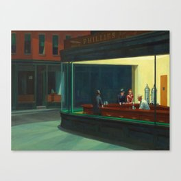 Edward Hopper's Nighthawks Canvas Print
