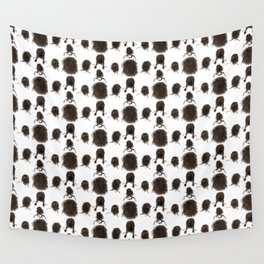 Messy dry curly hair pattern Wall Tapestry