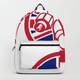 British Cable Installer Union Jack Flag Icon Backpack