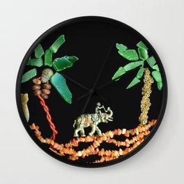 Safari Elephant Jewelry, Scanography Wall Clock
