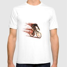 BikeCycling MEDIUM Mens Fitted Tee White