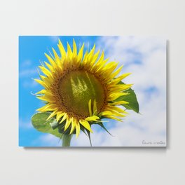 Bright Sunflower Metal Print