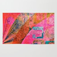 grunge Area & Throw Rugs featuring Grunge by Fine2art
