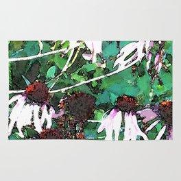 Watercolor Echinacea Rug