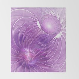 Protection, Abstract Fractal Art Throw Blanket