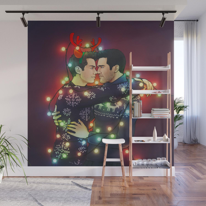 Christmas Lights Wall Mural By Sova