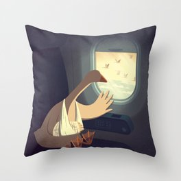 Hello, Goodbye Throw Pillow