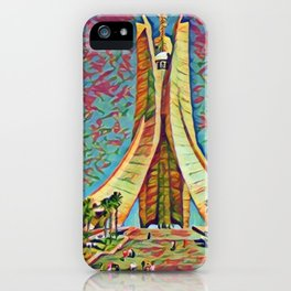 Algeria Martyrs' Memorial Artistic Illustration Mixed Colors Style iPhone Case