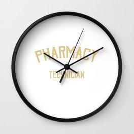 Pharmacy Technician Medicine Doctor's Prescription Pharmacy Healthcare Pharmacist T-shirt Design Wall Clock