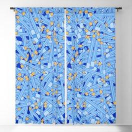 Bedtime Stories BLUE / Cartoon pencil pattern Blackout Curtain