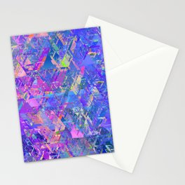 Mirror City Purple Stationery Cards