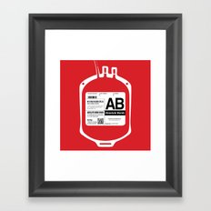 My Blood Type is AB, for Absolute Bomb! Framed Art Print