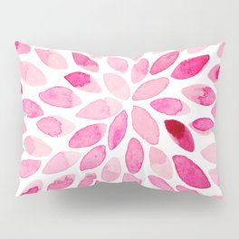 Watercolor brush strokes - pink Pillow Sham