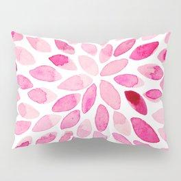 Watercolor brush strokes - pink Pillow Sham