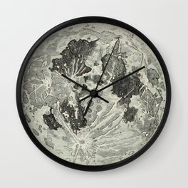 Vintage Moon Map Wall Clock