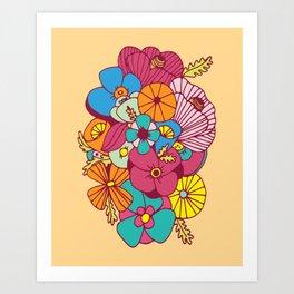 Flowers (1970s Style) Art Print