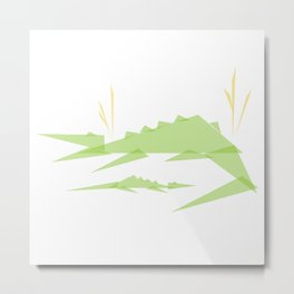 Crocodile :: Geo Menagerie Series Metal Print