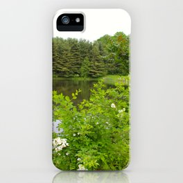 Wild Flowers on the lake iPhone Case