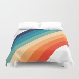 Retro 70s Stripe Colorful Rainbow Duvet Cover