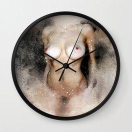 Venus in watercolor Wall Clock