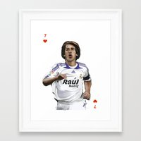 real madrid Framed Art Prints featuring Raul Madrid by Dano77