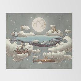 Ocean Meets Sky Throw Blanket