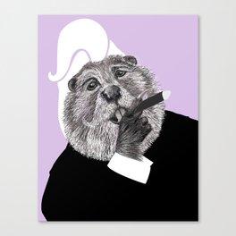 Beaver Gangster Canvas Print