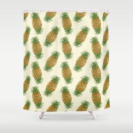 Genetically Engineered Pineapple Pattern Shower Curtain