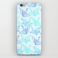 origami iPhone & iPod Skins featuring Origami by StudioBlueRoom