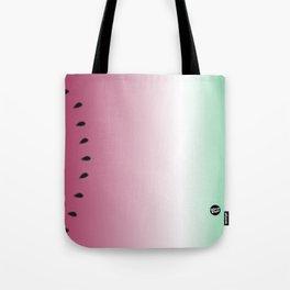 Watermelon Gradient Pink Green Tote Bag