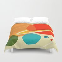 planets Duvet Covers featuring The planets by andy fielding