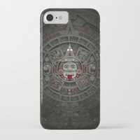 calendars iPhone & iPod Cases featuring Stone of the Sun I. by Dr. Lukas Brezak