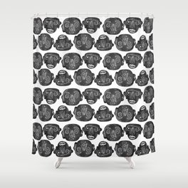 Loco Tribesmen Shower Curtain