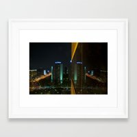 seoul Framed Art Prints featuring Seoul Reflection by Anthony M. Davis