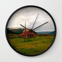 alaska Wall Clocks featuring Alaska by Julia Blanchette