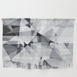 black and white multipolygon Wall Hanging