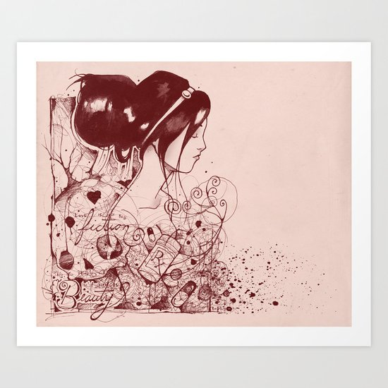 Fiction and Beauty Art Print