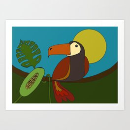 TROPICAL SUNSHINE Art Print