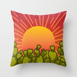 Utah Sunset - State Outline Throw Pillow