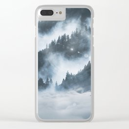 The Arctic Wolf Clear iPhone Case